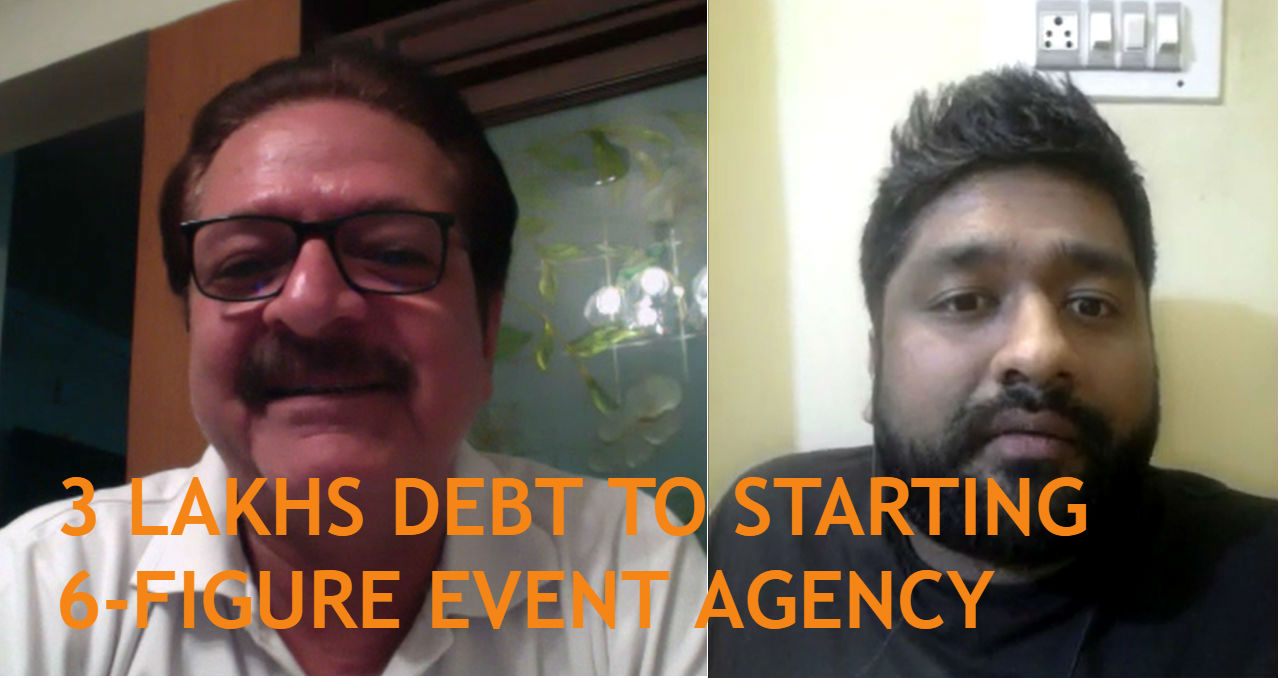 How Vivek Sridhar went from 3 lakhs debt to starting his own 6-figure event agency