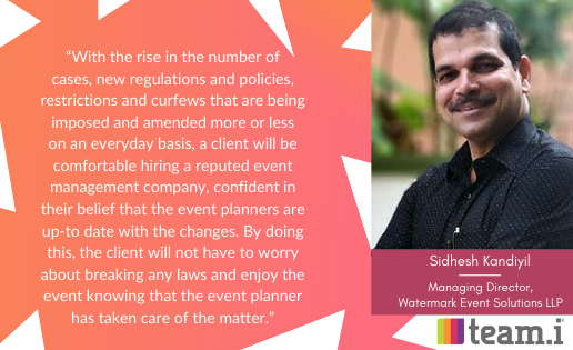 An Interview with Sidhesh Kandiyil From Watermark Event Solutions LLP
