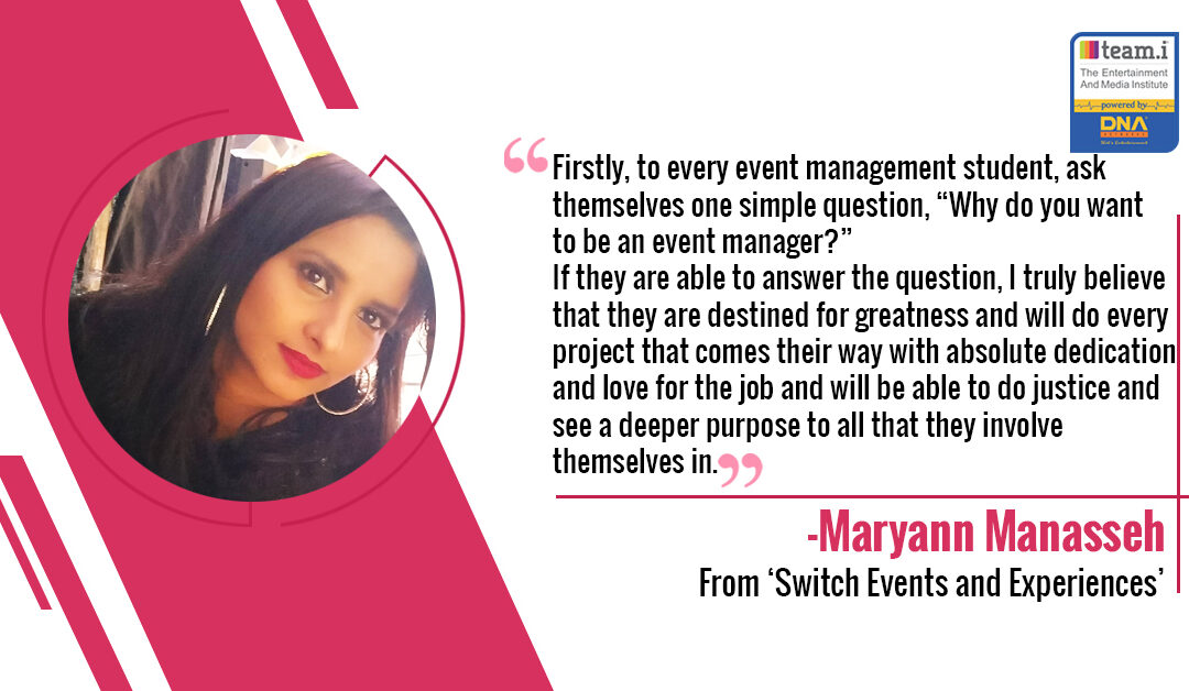 An Interview With Maryann Manasseh From 'Switch Events and Experiences'