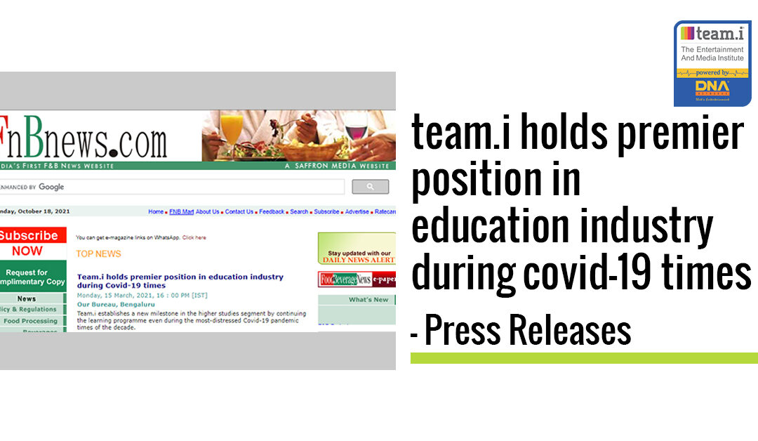 team.i holds premier position in education industry during covid-19 times – Press Releases