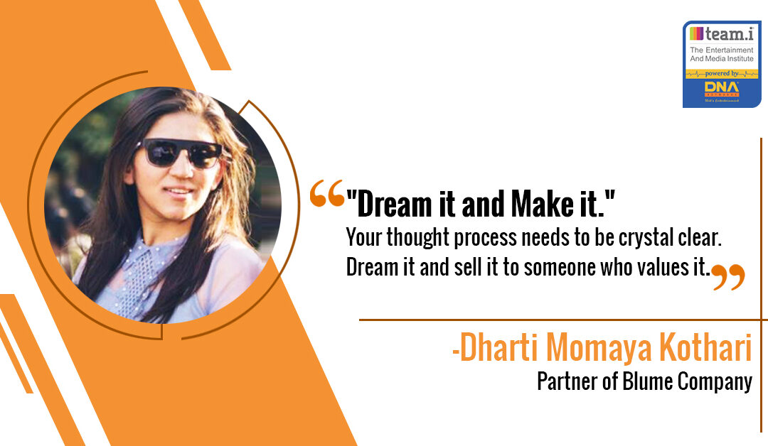 Dharti's big breakthrough in life with team.i